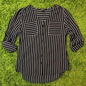 NWOT Express Striped Button Up Shirt Blouse